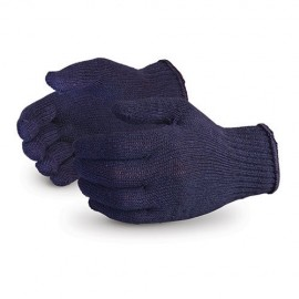 Gloves Cotton Knitted  - Colour :  Blue