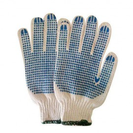 Gloves Cotton Knitted - Single Side Polka Dotted