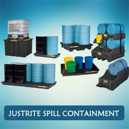 Justrite spill containment