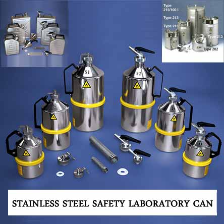 Stainless Steel Safety Laboratory Can