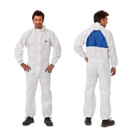 3M 50425 Lint Free washable coveralls for paint booth - Grey, Size: Medium
