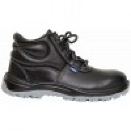 Allen Cooper Safety Shoe S.T. Booty Print Leather - PU - D.D - D.C Sole - High Ankle