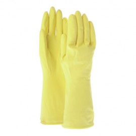 """Gloves Rubber Yellow - Size: 18"""""""